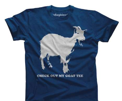 Pun-Filled Animal Shirts - This Hilarious Goat T-Shirt Plays on Male Facial Hair