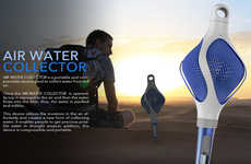 Desert-Friendly Filters - The Air Water Collector Accumulates Condensation in Arid Climates