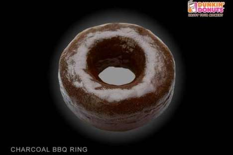 Crispy Charcoal-Infused Donuts - Dunkin' Donuts Thailand Has a Menu of Edible Charcoal-Flavor Donuts