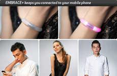 Simplistic Smartphone Bracelets - The EMBRACE Plus Bracelet Provides Color Notifications