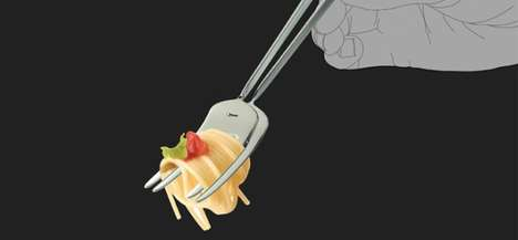 Cross-Cultural Cutlery - The Noodles Fork Combines Chopsticks with the Many-Pronged Implement