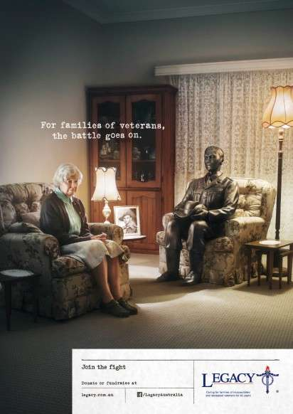 Bronzed War Vet Campaigns - The Legacy Australia Ad Campaign Asks People to