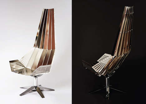 Sharp Metal Chaises - The Combine Chair Embodies a Completely Cutting-Edge Style of Seat
