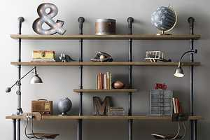 This Industrial Pipe Desk & Shelving Unit is a Convenient Space Saver
