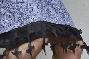 The Black Bird Design Makes for a Great Witch Costume Skirt