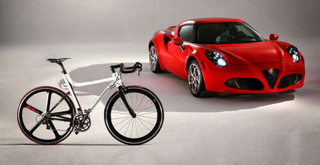 Luxury Auto-Inspired Bicycles - The Alfra Romeo 4C IFD Bicyle is the Epitome of Luxury
