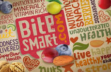 Mixed-Media Munchie Merchandizing - Bite Smart Packaging Features a Scrumptious Visual Medley
