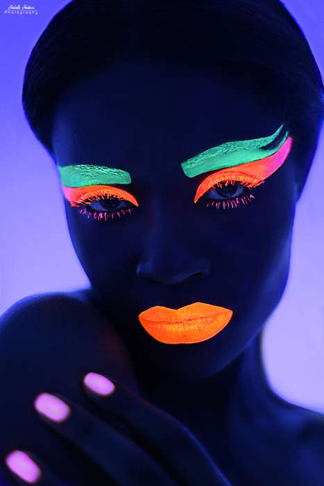 Glowing Neon Face Photography -