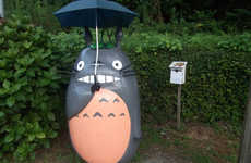 Realistic Anime Bus Stops - These Japanese Bus Stops Were Designed After the One in Totoro