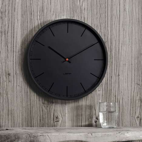 Monochromatic Matte Clocks - The Tone35-LT Clocks from Leff Amsterdam Have a Contrasting Finish
