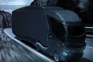 Ehsan Parandin's Futuristic Truck Blends Speed with Sophistication