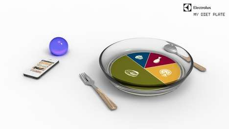 Hi-Tech Health-Promoting Plates - My Diet Plate Facilitates Portion Control for Individual People