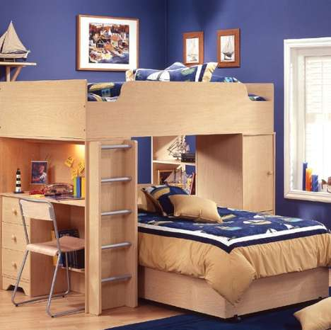 Work Station Hybrid Beds - The Complete Loft Bed Comes with Extra Features for Roommates