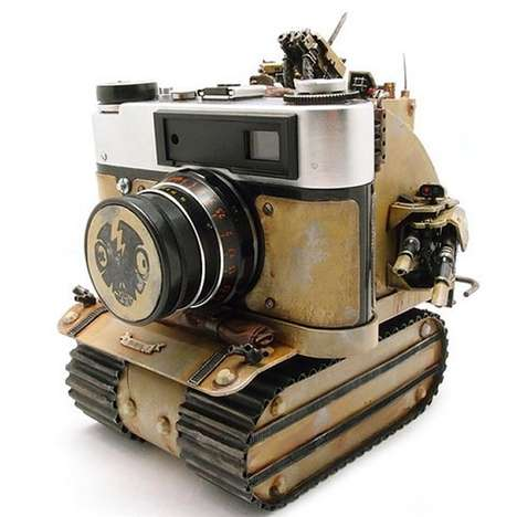 Retro War Machine Cameras - The Soviet Rumble Camera is Inspired by Retro Tanks
