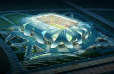 From Sci-Fi Sports Arenas to Volcanic Soccer Stadiums