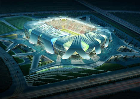 55 Spectacular Athletic Structures - From Sci-Fi Sports Arenas to Volcanic Soccer Stadiums