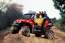 Chlidren's Off-Road Vehicles - The RZR Polaris Red Ranger is a Power Vehicle for Kids