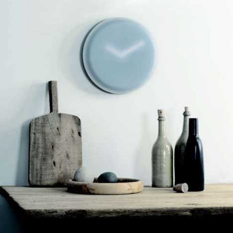 Blurry Modern Clocks - The Hazy Clock by LEFF Adds Minimalist Design to Your Home