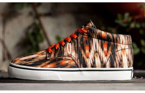 Plant-Inspired Sneakers - The Hundreds Brand Ikat Johnson Mid 'Cactus' is Leafy