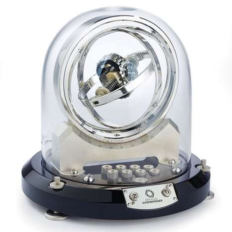Astronaut-Inspired Watch Winders - The Gyroscopic Watch Winder Spins 360 Degrees in All Directions