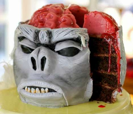 Morbid Monkey Desserts - This Darkly Decorated Cake is Inspired by an Indiana Jones Flick