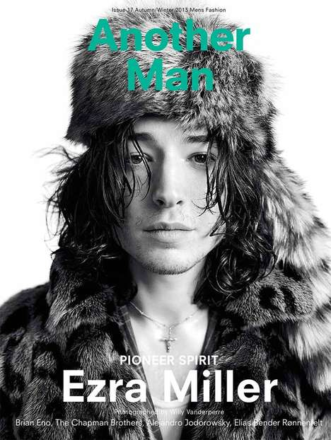 Bohemian Rock Star Editorials - AnOther Man 2013 issue Captures Ezra Millers Adventurous Spirit