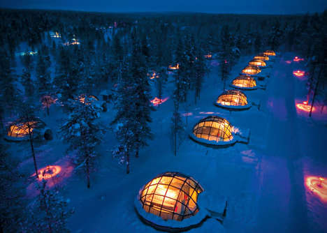 Glass Igloo Hotel Parks - Hotel Kakslauttanen Offers 20 Thermal Igloos in Finland