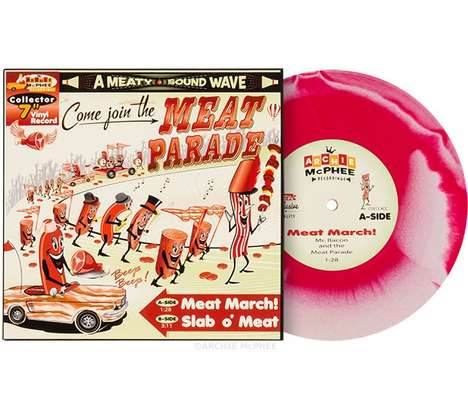 Meat-Inspired Vinyl Records - The