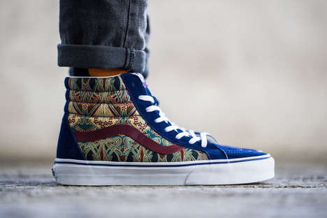 Stained Glass Sneakers - The Liberty Vans 2013 Holiday Collection is Stained-Glass Inspired