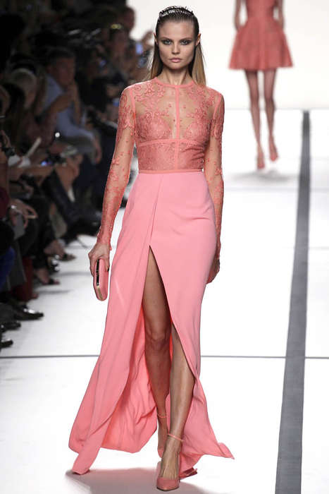 Show-Stopping Ethereal Fashions - Elie Saab Spring/Summer 2014 is a Sweet & Head-Turning Collection