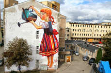 Huge Humanistic Wall Murals