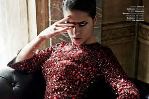 Adriana Lima Plays the Bad Girl for Giampaolo Sgura in This Spread
