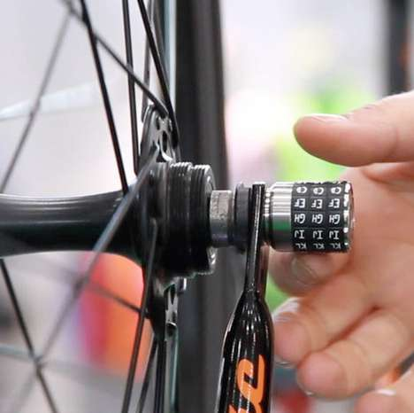 Bike Anti-Theft Devices - The Sphyke Combination Skewers Locks Down the Front Wheel