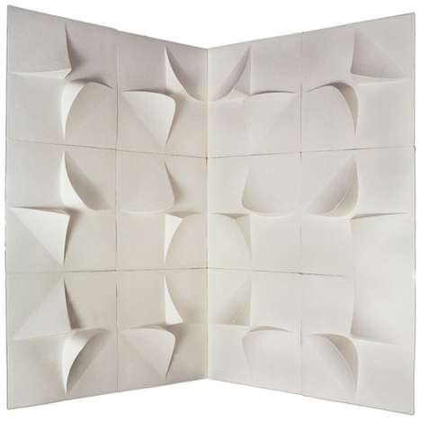 Textured 3D Wallpapers - The Paperforms 3D Home Wallpaper Tiles Add Some Dimension to Your Home