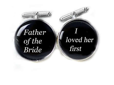 Sweet Fatherly Cufflinks - These Bride