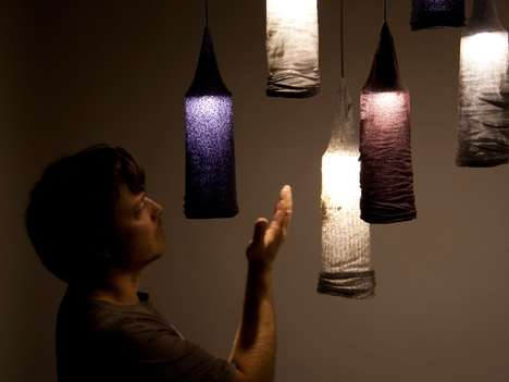 Dirty Laundry Lamps - These Sock Pendant Lights are Pairless Apparel Repurposed in the Home