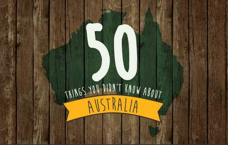 Quirky Australia-Focused Infographics - The 50 Weird Australia Facts Infographic Highlights Nuances
