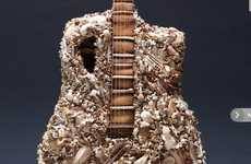 Bone-Infused Guitars - Bruce Mahalski Has Designed This Guitar with Crushed Bones