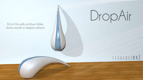 Raindrop Air Purifiers - The DropAir Filtration System Improves the Quality of Interior Environments