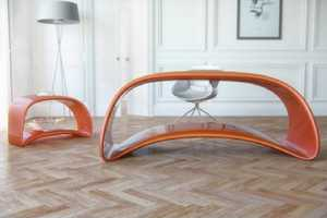 The Nuvska Table Forms a Continuous Loop for Lovely Aesthetic Harmony