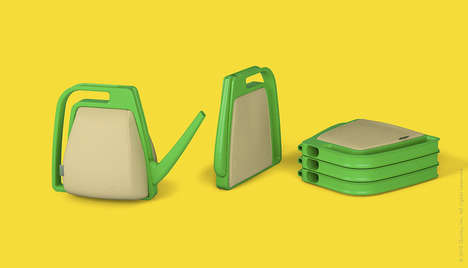 Flatpack Plant Dousers - The Squish Watering Can Collapses Completely for Convient Dry Storage