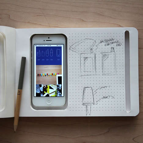 Tech-Integrated Stationary - The Phone + Book by KBme2 is Perfect for Tech-Obsessed Students