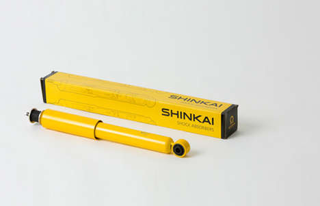 Canary-Colored Car Part Branding - Vibrant Shinkai Packaging Captivates More than the Competition