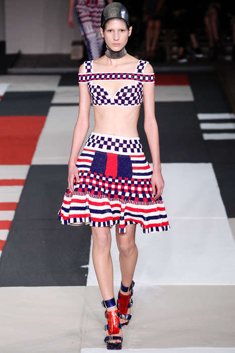 Tribal Art-Inspired Fashion - Alexander McQueen Spring 2014 Exhibits Finely Crafted Works of Art