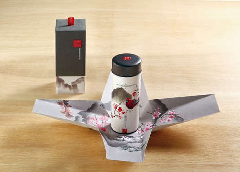 Painterly Infusion Packaging - Taiwan High Mountain Tea Embodies an Elegant and Organic Aesthetic