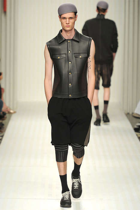 Remixed Militant Menswear - The Robert Geller Spring/Summer 2014 Collection is Eccentrically Urban