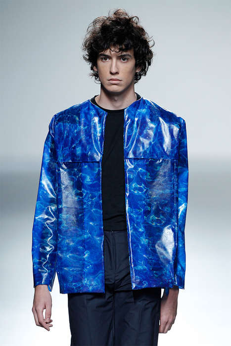 Textured Polymer Runways - The Martín Lamothe Spring/Summer 2014 Collection is
