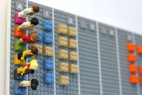 Digitized LEGO Calendars - The LEGO Calendar Digitally Syncs Offline Schedules Online