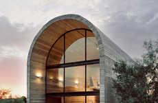 Minimalist Rounded Concrete Studios