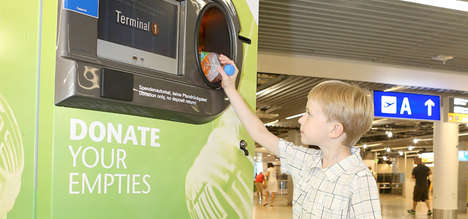 Frankfurt Airport recycling bank